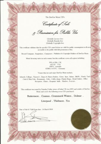 DavGar Certificate